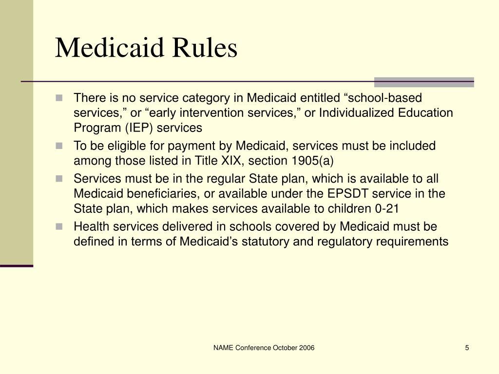 Medicaid Rules
