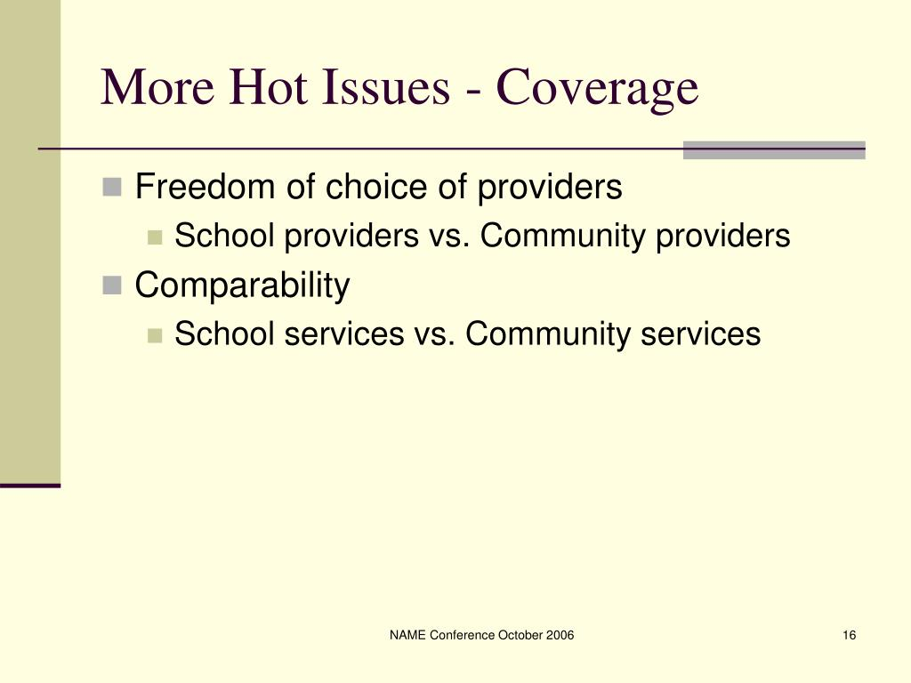 More Hot Issues - Coverage