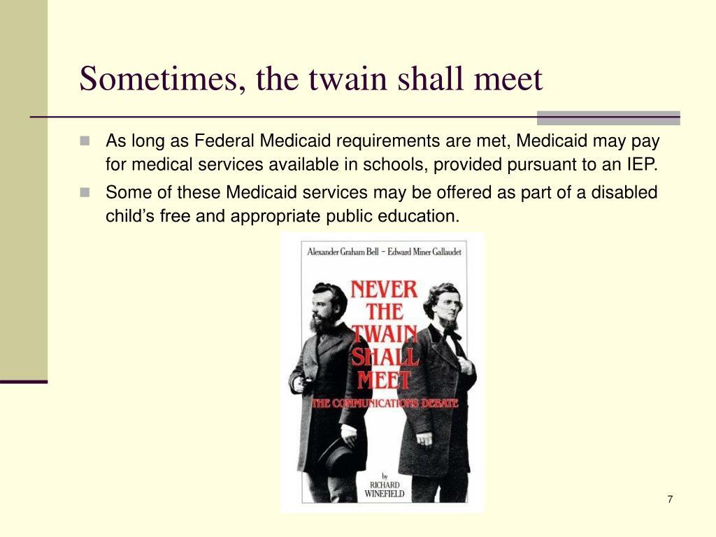Sometimes, the twain shall meet