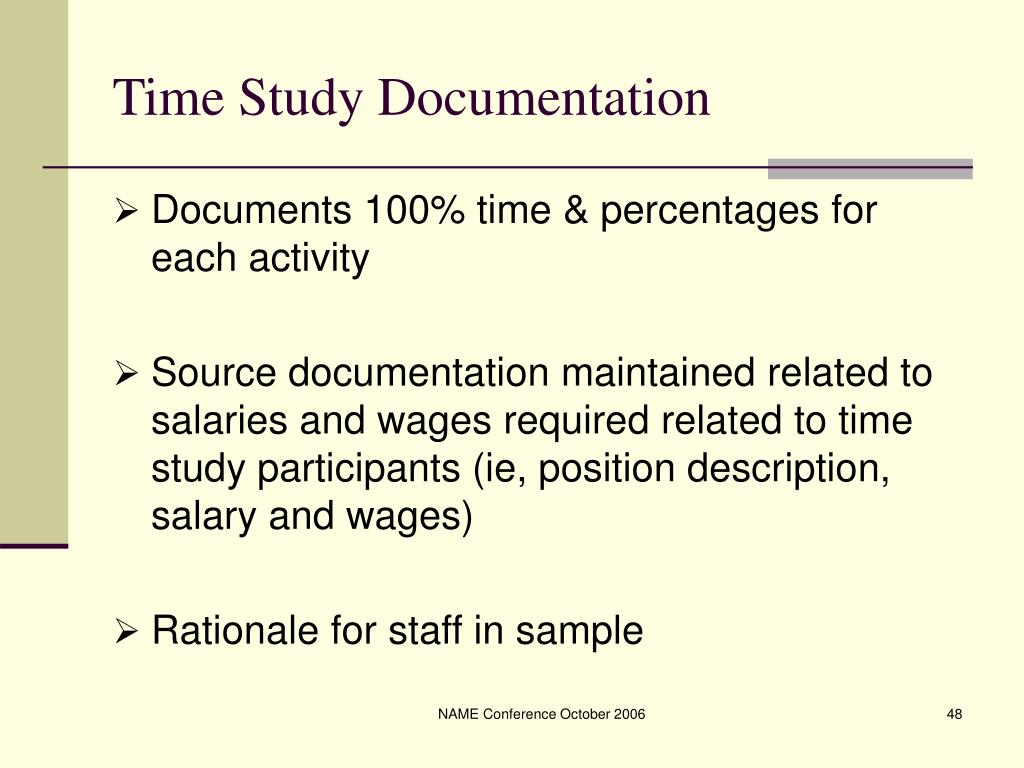 Time Study Documentation
