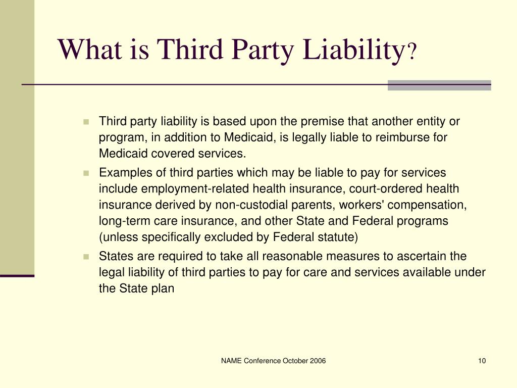 What is Third Party Liability