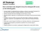 ap redesign establish foundation