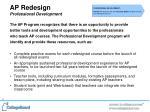 ap redesign professional development