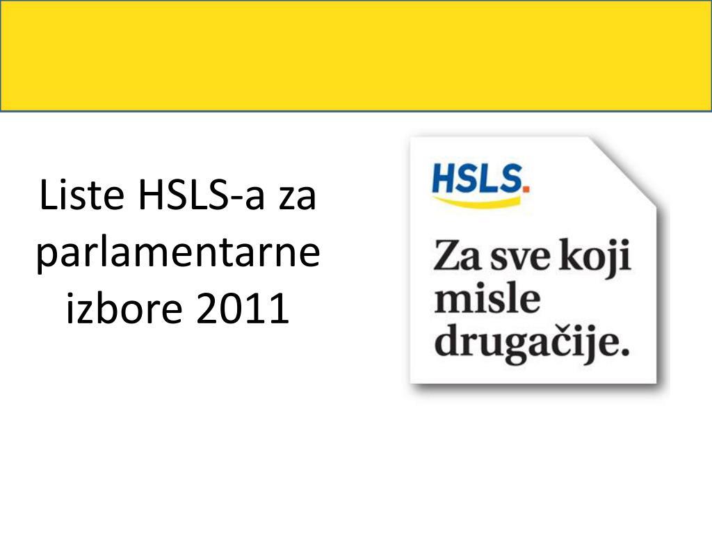 Liste HSLS-a za parlamentarne izbore 2011