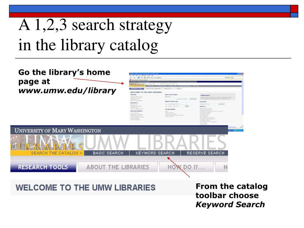 A 1,2,3 search strategy
