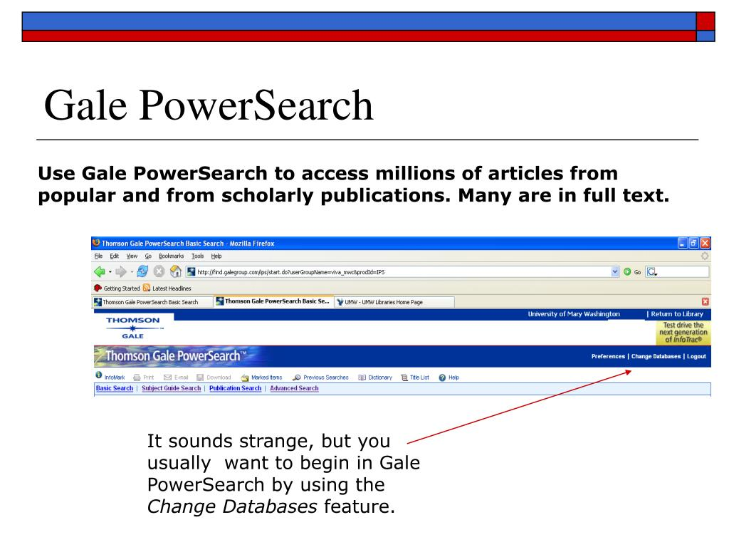 Gale PowerSearch