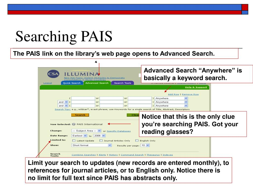 Searching PAIS