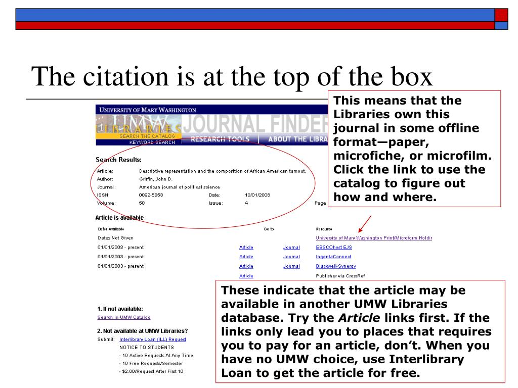 The citation is at the top of the box