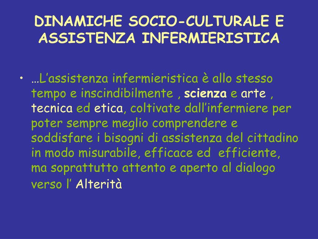 DINAMICHE SOCIO-CULTURALE E