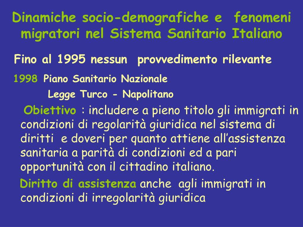 Dinamiche socio-demografiche e  fenomeni migratori nel Sistema Sanitario Italiano