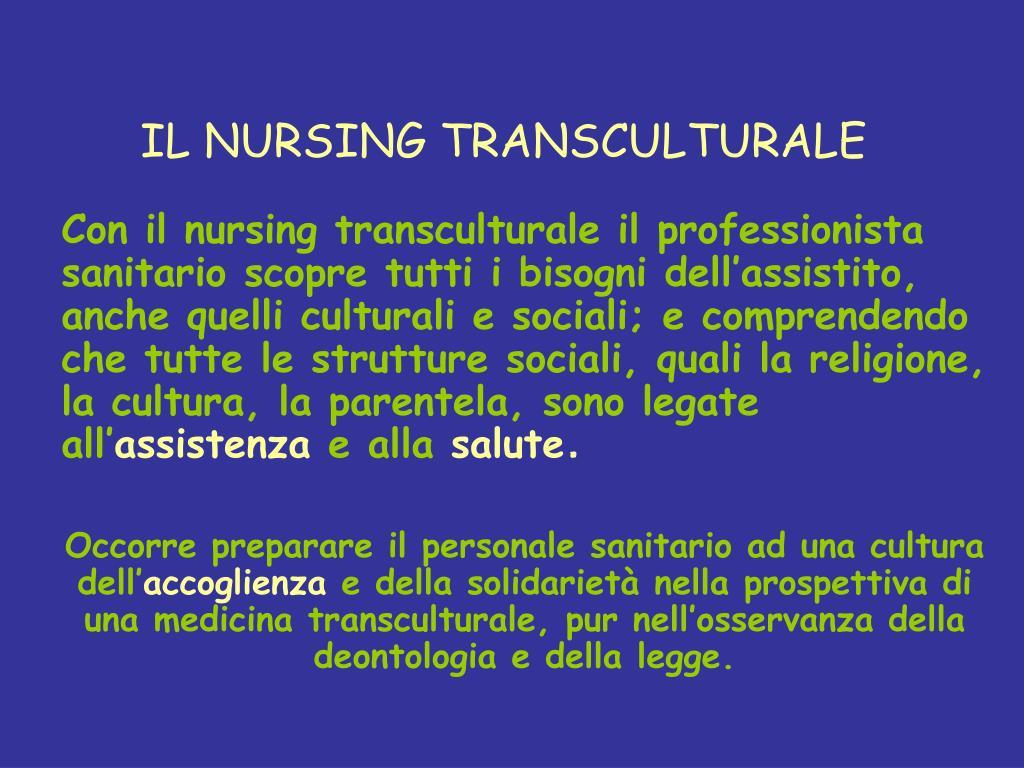IL NURSING TRANSCULTURALE