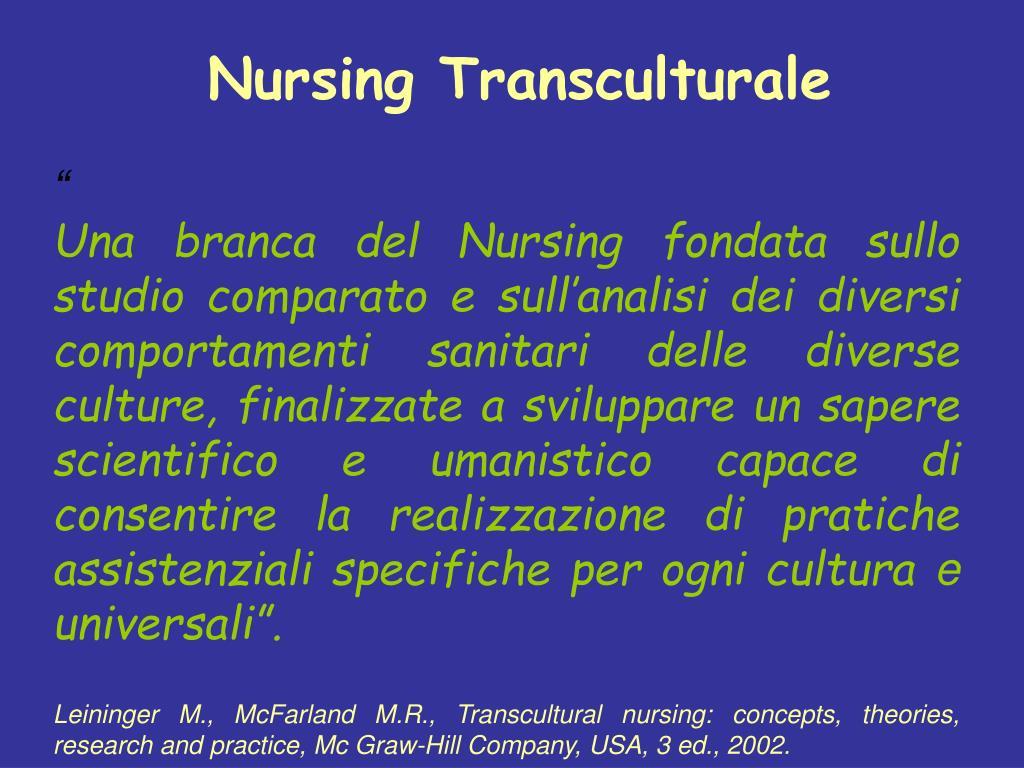 Nursing Transculturale