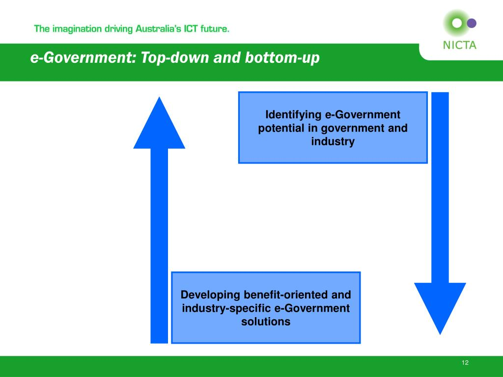 e-Government: Top-down and bottom-up