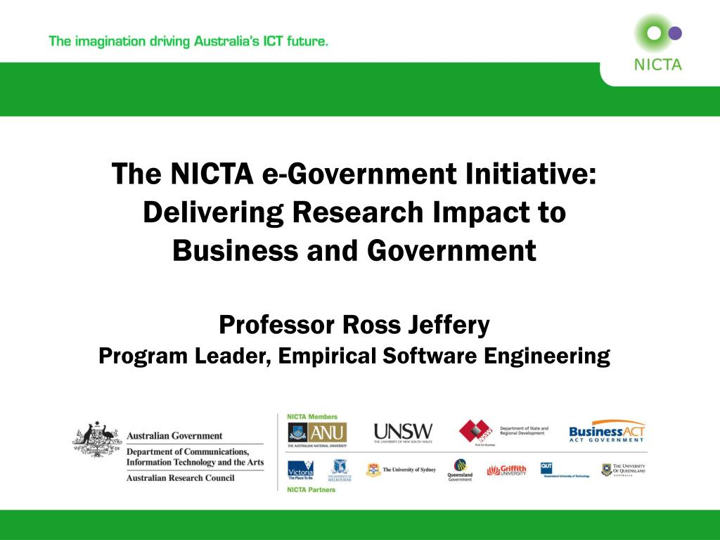 The NICTA e-Government Initiative: