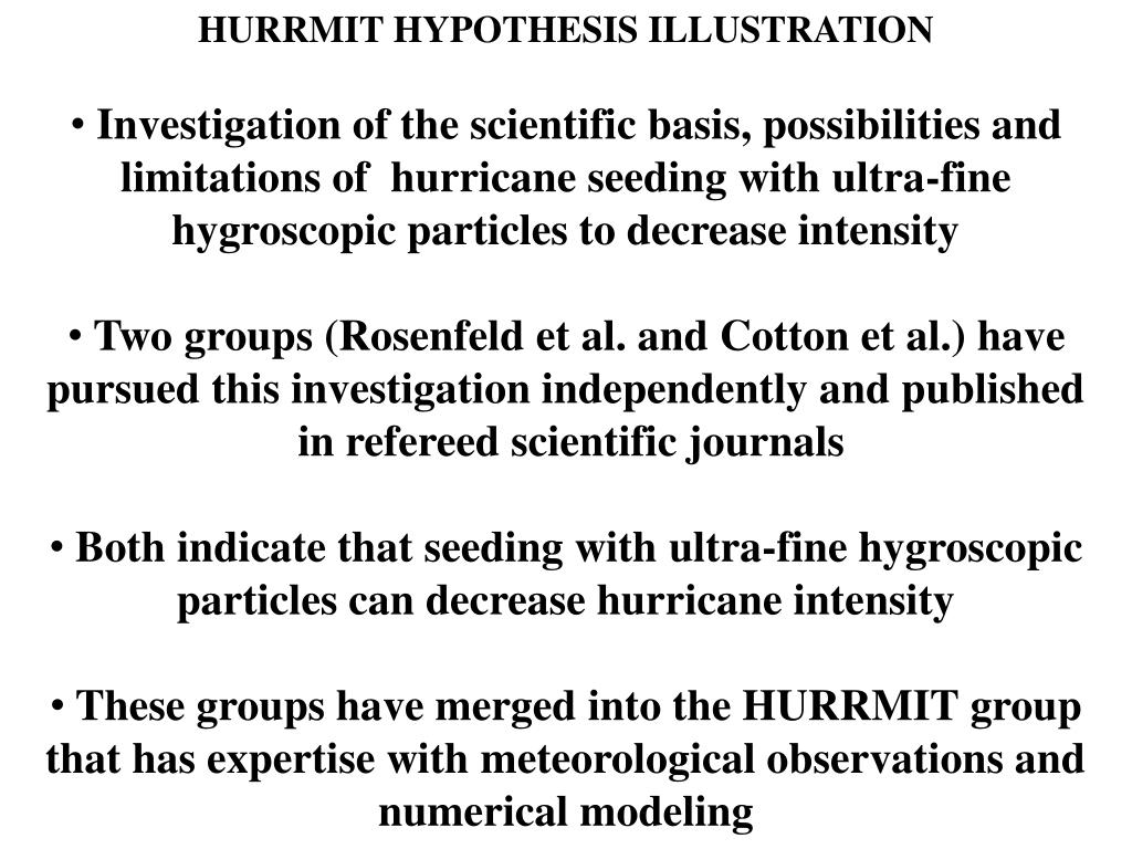 HURRMIT HYPOTHESIS ILLUSTRATION