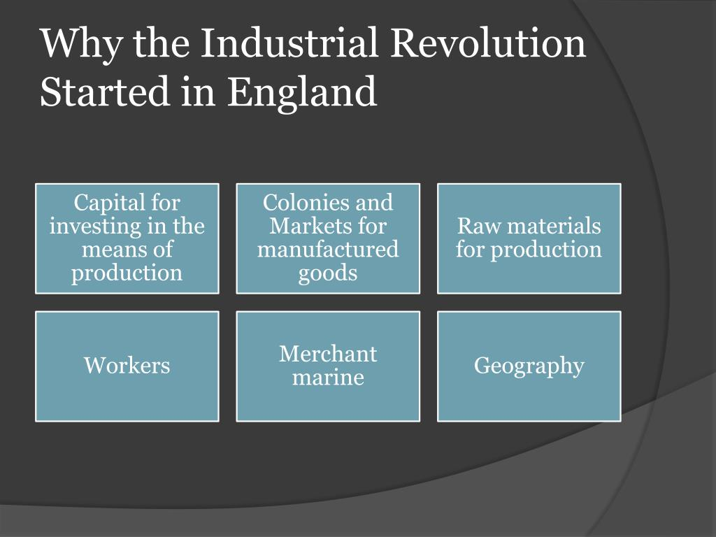 catalysts of the industrial revolution essay Throughout history, slavery has played a very prominent role in shaping the world's societies and economies across three time periods in particular, slavery throughout the world has notable similarities and differences in areas such as the status of slavery, the way slavery influenced society, and the motivation for a civilization to.