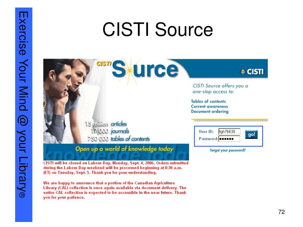 CISTI Source