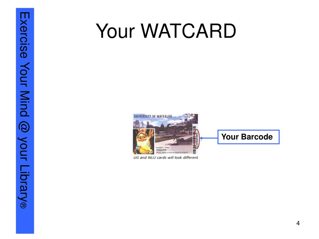 Your WATCARD