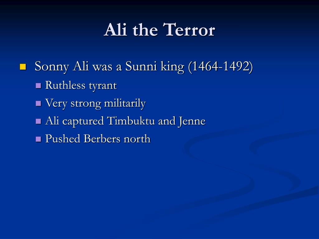 Ali the Terror