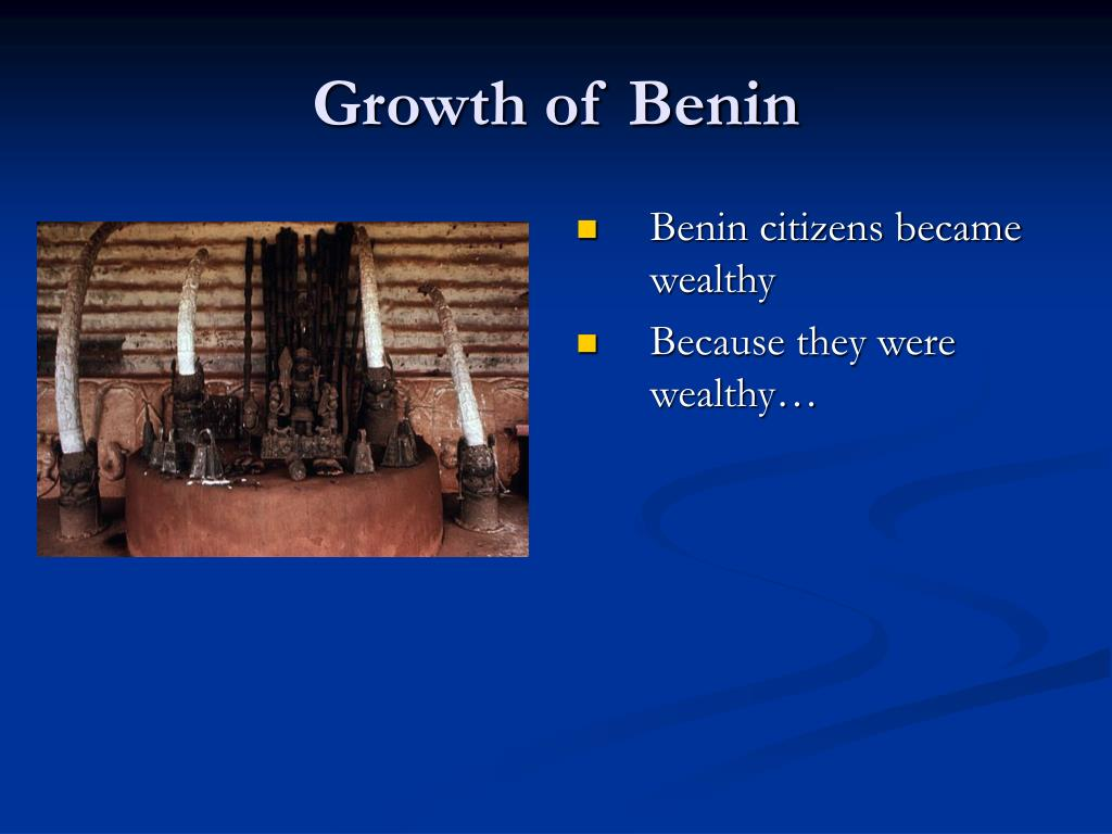 Growth of Benin