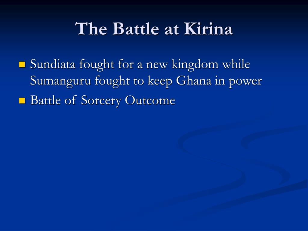 The Battle at Kirina