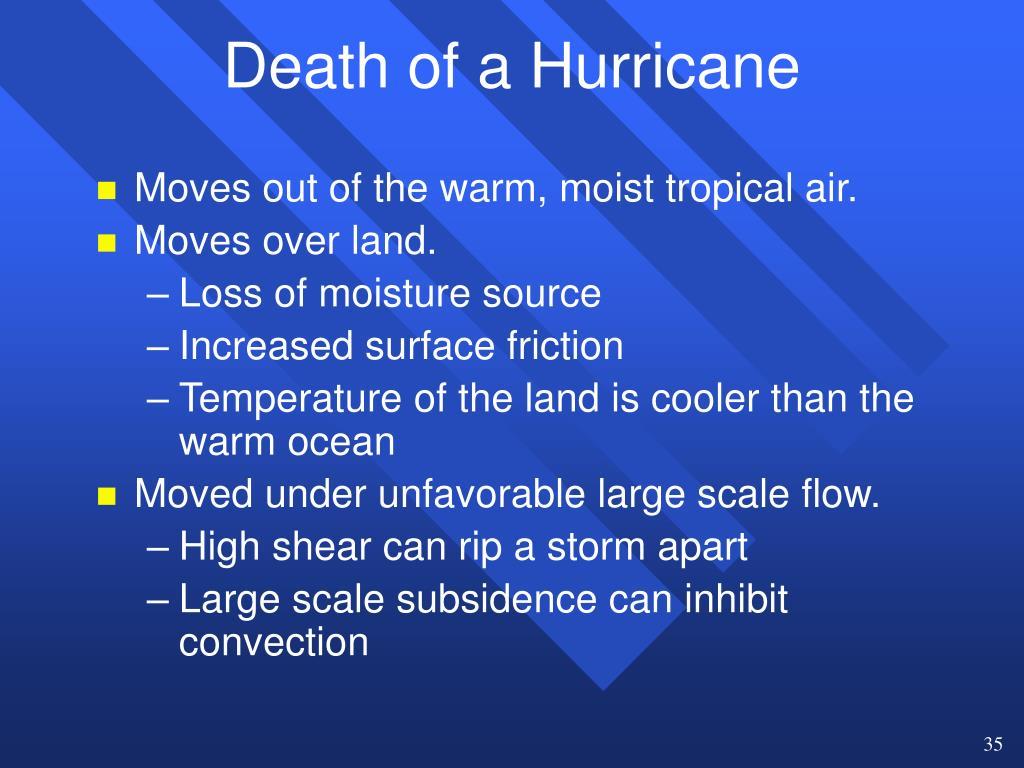 Death of a Hurricane