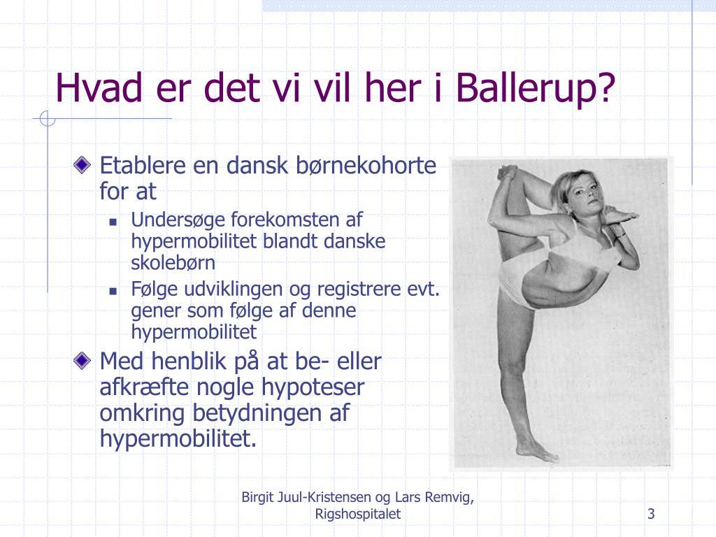 Hvad er det vi vil her i Ballerup?