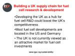 building a uk supply chain for fuel cell research development