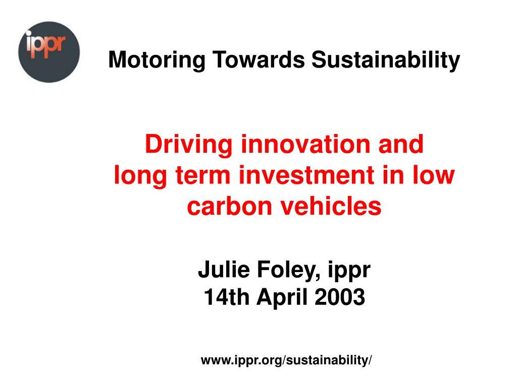 Motoring Towards Sustainability