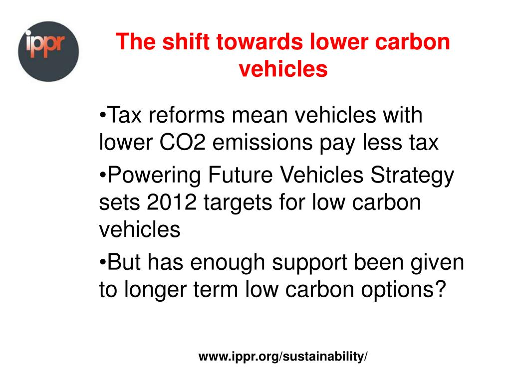 The shift towards lower carbon vehicles