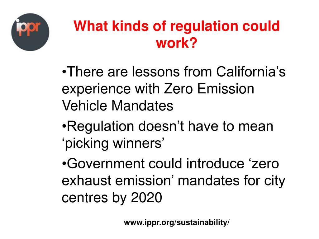 What kinds of regulation could work?