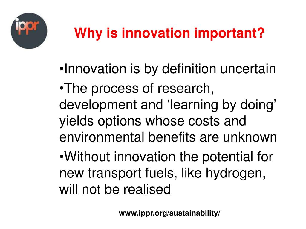 Why is innovation important?