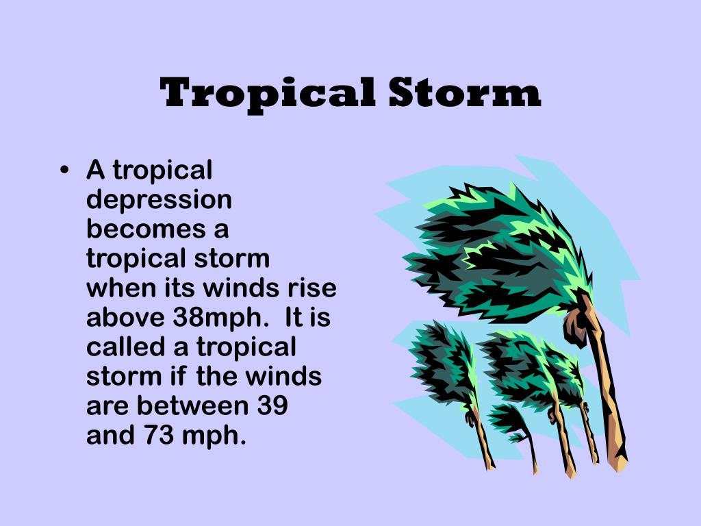 A tropical depression becomes a tropical storm when its winds rise above 38mph.  It is called a tropical storm if the winds are between 39 and 73 mph.