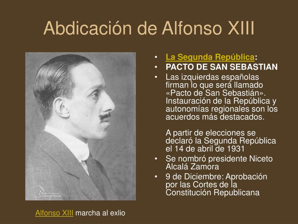 Abdicación de Alfonso XIII