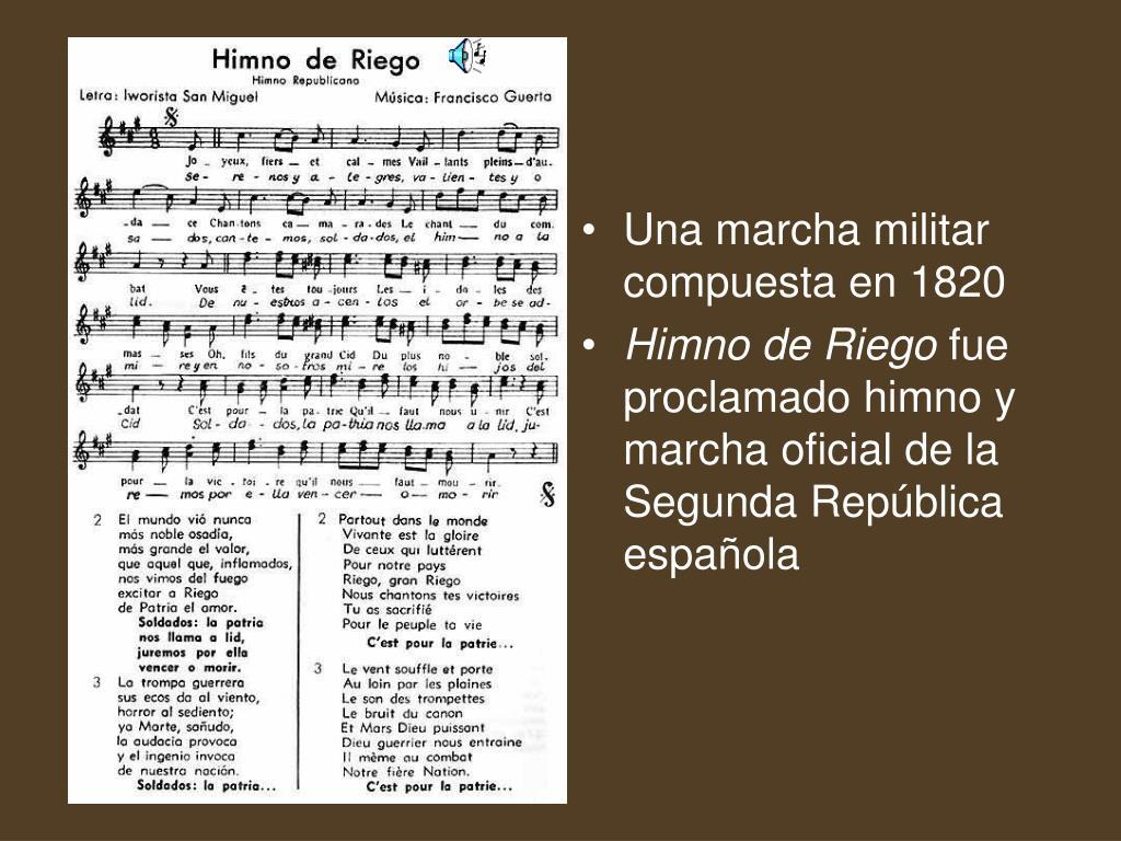 Una marcha militar compuesta en 1820