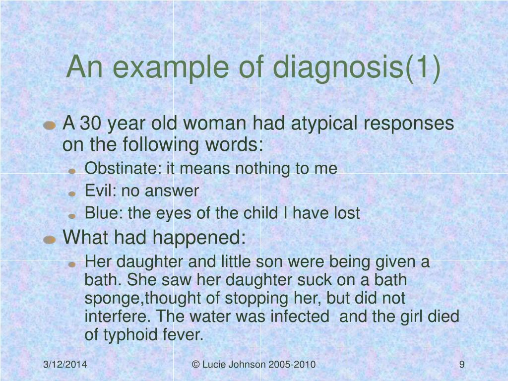 An example of diagnosis(1)
