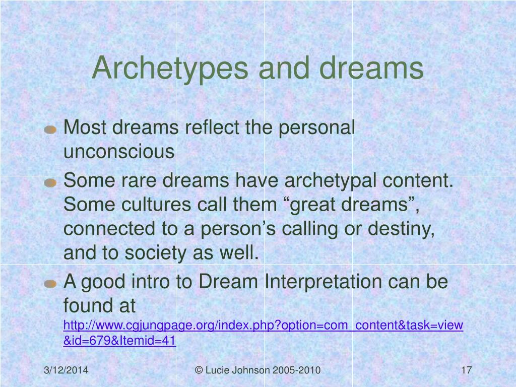 Archetypes and dreams