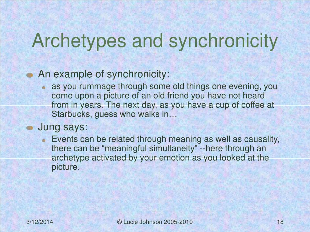 Archetypes and synchronicity