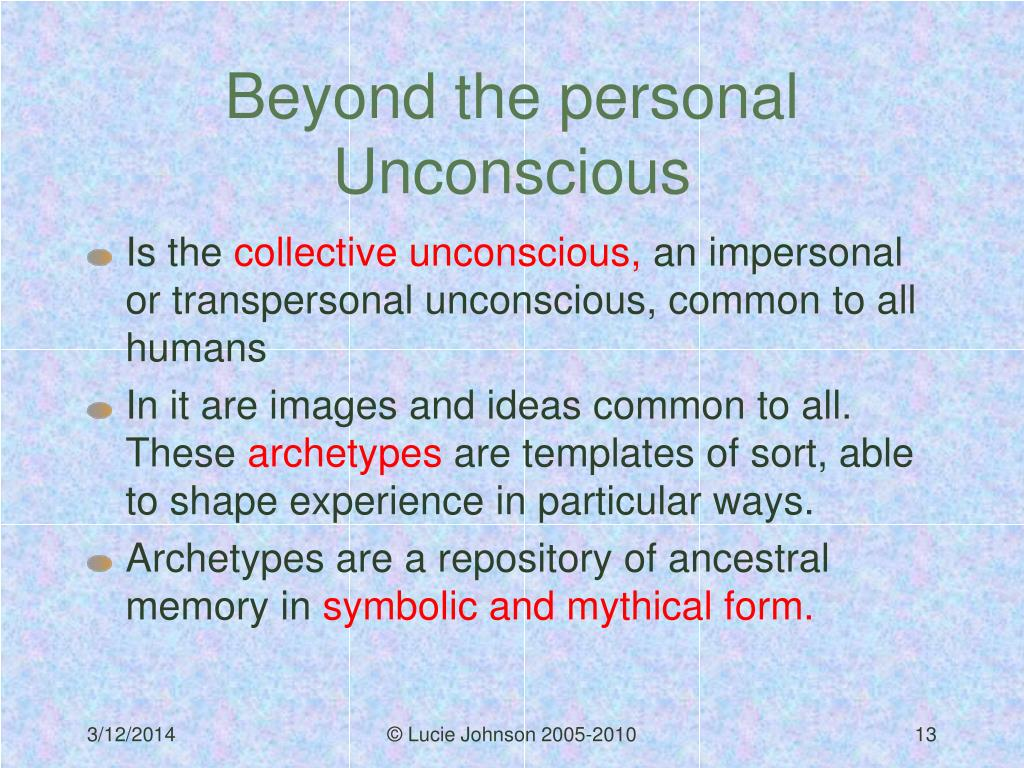 Beyond the personal Unconscious