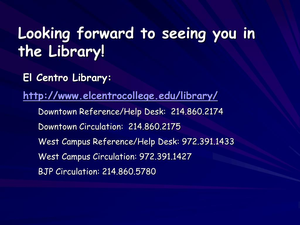 Looking forward to seeing you in the Library!