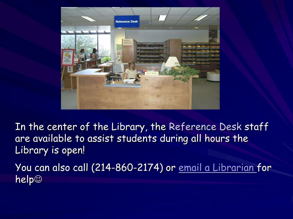 In the center of the Library, the