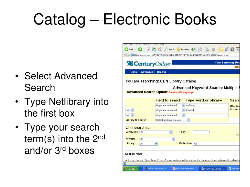 Catalog – Electronic Books
