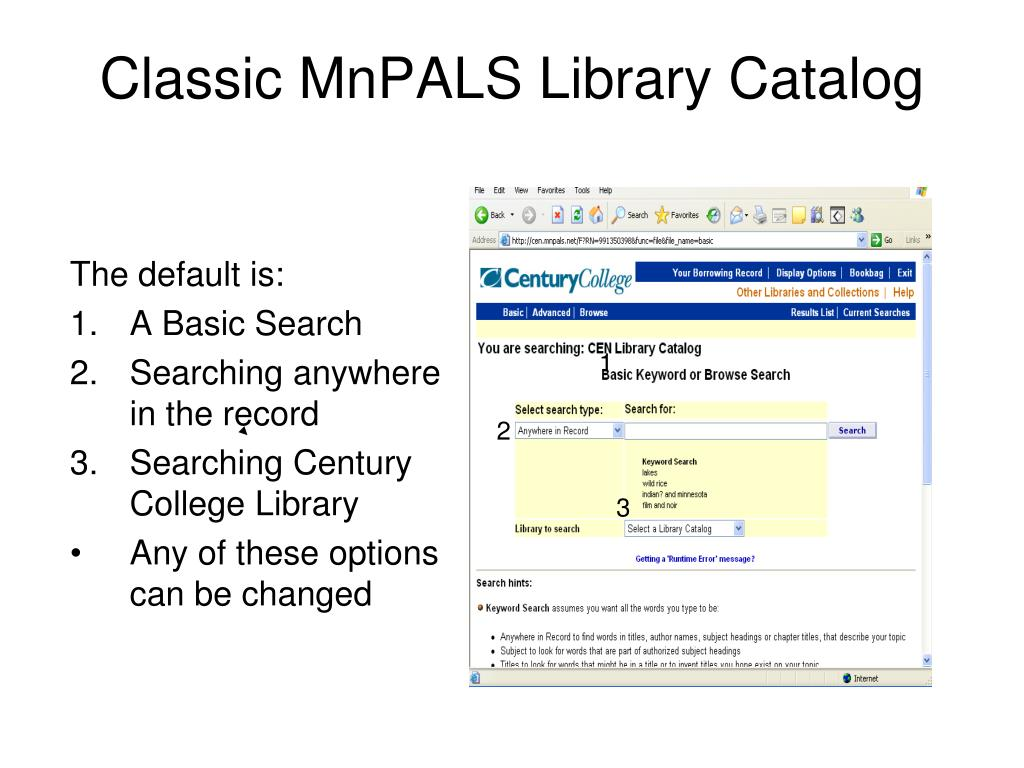 Classic MnPALS Library Catalog