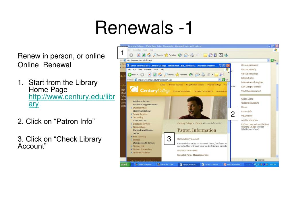 Renew in person, or online