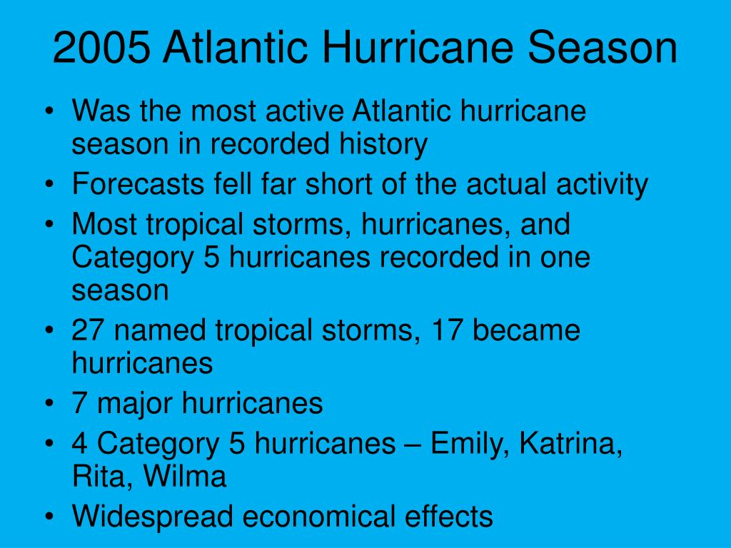 2005 Atlantic Hurricane Season