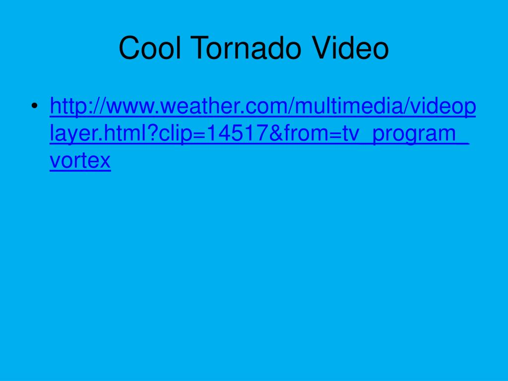 Cool Tornado Video