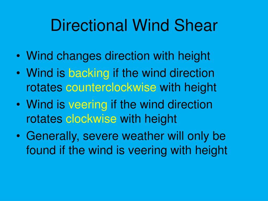 Directional Wind Shear