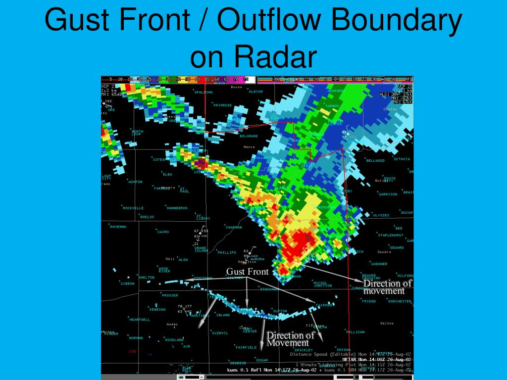 Gust Front / Outflow Boundary on Radar