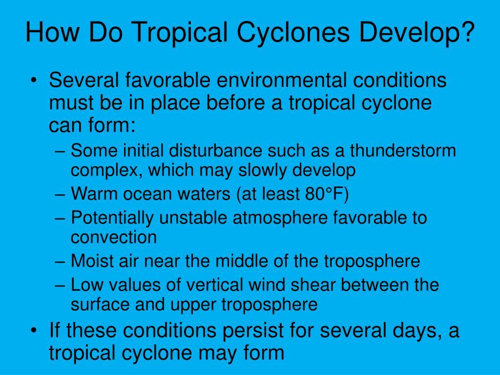 How Do Tropical Cyclones Develop?