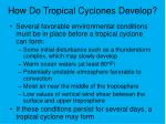 how do tropical cyclones develop